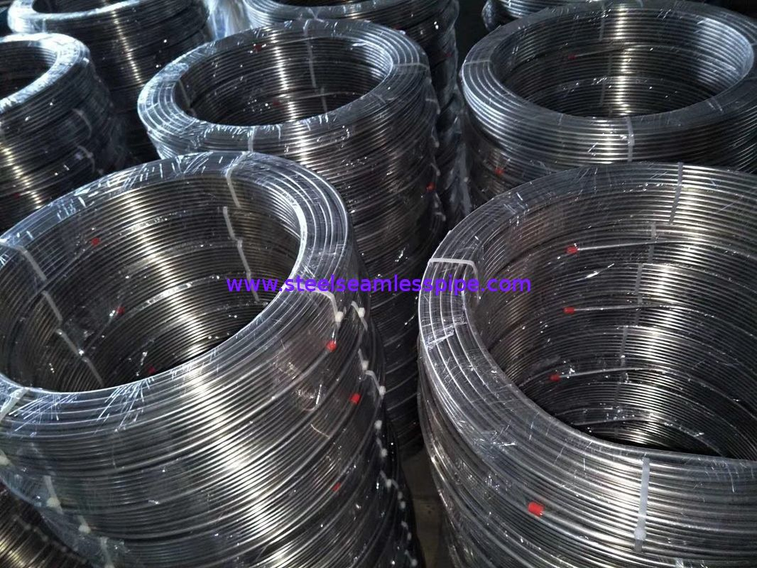Stainless Steel Coil Tubing, A269 TP304 / TP304L / TP310S / TP316L, bright annealed , 1/4 INCH BWG18 FOR SHIPYARD
