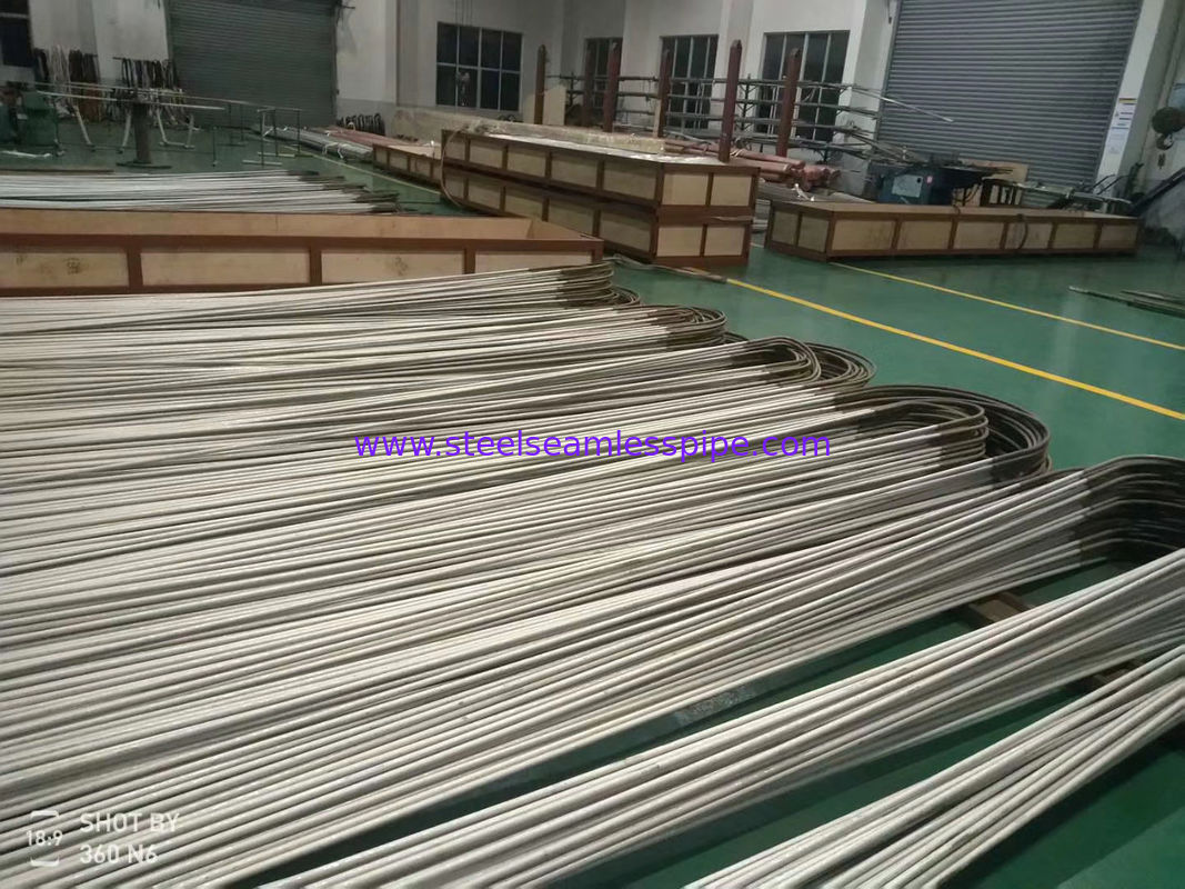 19.05 X 2.11 X 6096 MM  ASME SA213 TP304L  Stainless Steel Seamless Tube , U Bend type , heat exchange application